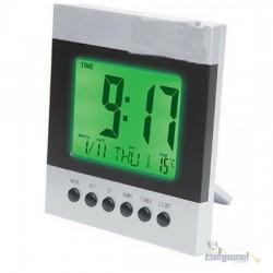 Relógio Digital Luz Alarme C/ Termômetro Despertador Ds-2088